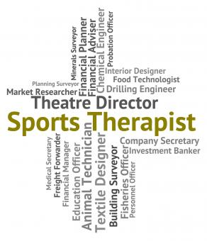 Free Stock Photo of Sports Therapist Means Physical Exercise And Career