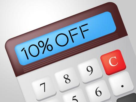 Free Stock Photo of Ten Percent Off Indicates Calculate Offer And Sale