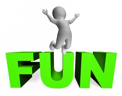 Free Stock Photo of Fun Character Indicates Joy Jump And Enjoy 3d Rendering