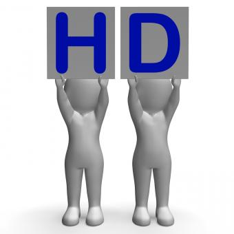 Free Stock Photo of HD Banners Mean High Definition Television Or High Resolution