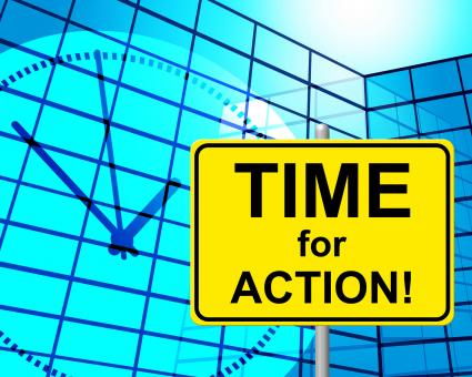 Free Stock Photo of Time For Action Indicates Do It And Active