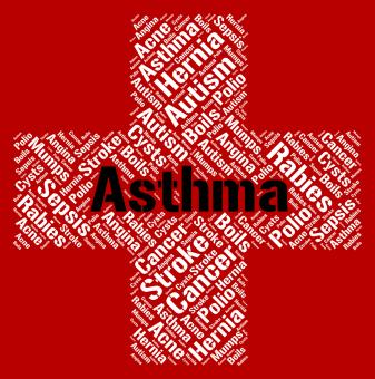 Free Stock Photo of Asthma Word Indicates Poor Health And Afflictions