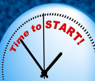 Free Stock Photo of Time To Start Indicates Act Now And Beginning