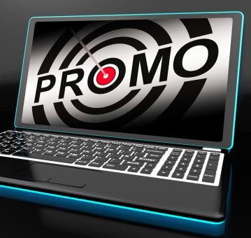 Free Stock Photo of Promo On Laptop Shows Special Promotions
