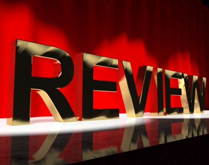 Free Stock Photo of Review Word On Stage Showing Evaluation And Feedback