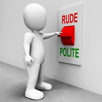 Free Stock Photo of Rude Polite Switch Means Good Bad Manners