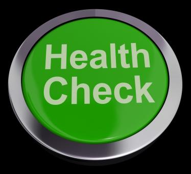 Free Stock Photo of Health Check Button In Green Showing Medical Examination