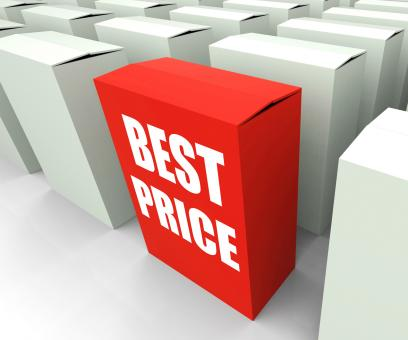 Free Stock Photo of Best Price Box Represents Bargains and Discounts