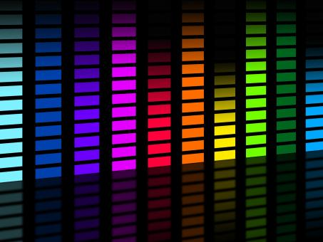 Free Stock Photo of Colorful Soundwaves Background Means Frequencies Music And Party