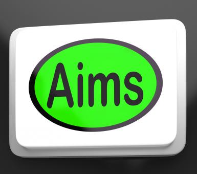 Free Stock Photo of Aims Button Shows Targeting Purpose And Aspiration