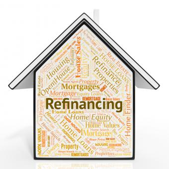 Free Stock Photo of Refinancing House Shows Residential Financial And Mortgage