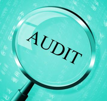 Free Stock Photo of Audit Magnifier Shows Searching Auditing And Magnification
