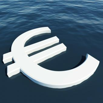 Free Stock Photo of Euro Floating Showing Money Wealth Or Earnings