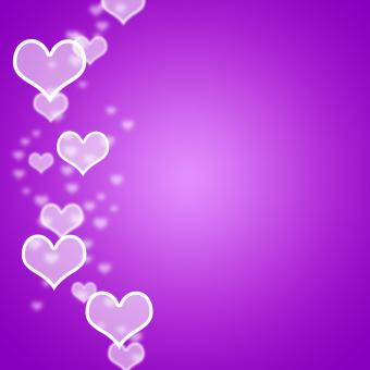 Free Stock Photo of Mauve Hearts Bokeh Background With Blank Copyspace Showing Love And Ro