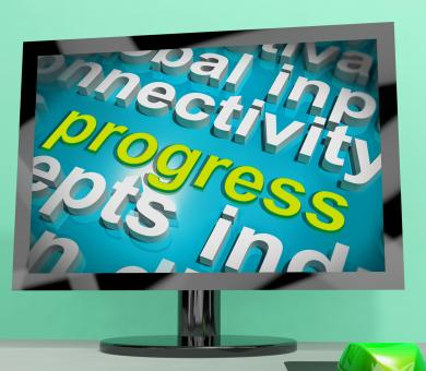 Free Stock Photo of Progress Word Cloud Means Maturity Growth And Improvement