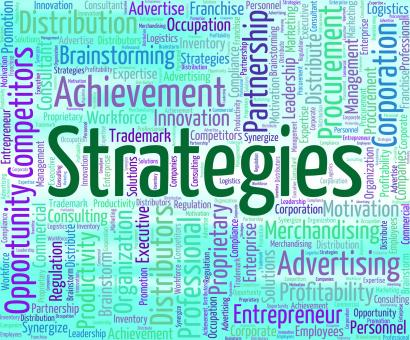 Free Stock Photo of Strategies Word Indicates Tactic Words And Plan