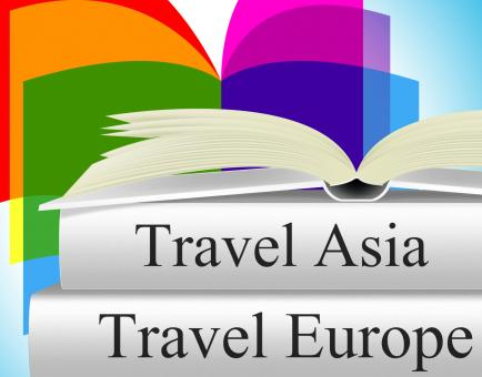Free Stock Photo of Europe Books Means Travel Guide And Asia