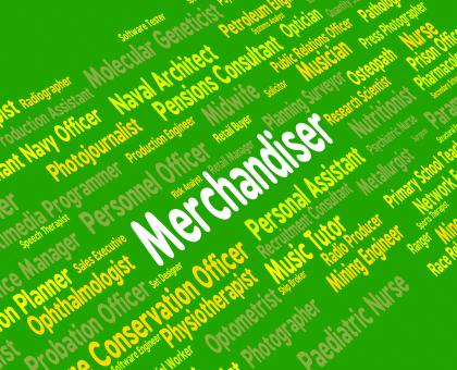Free Stock Photo of Merchandiser Job Represents Word Tradesman And Hiring