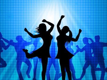 Free Stock Photo of Women Dancing Represents Disco Music And Adults