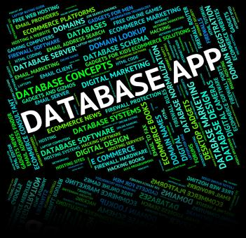 Free Stock Photo of Database App Represents Apps Software And Computer