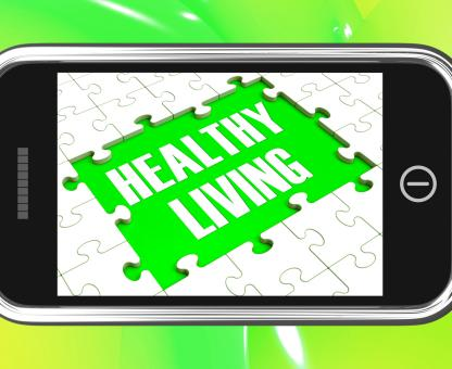 Free Stock Photo of Healthy Living On Smartphone Showing Health Diet