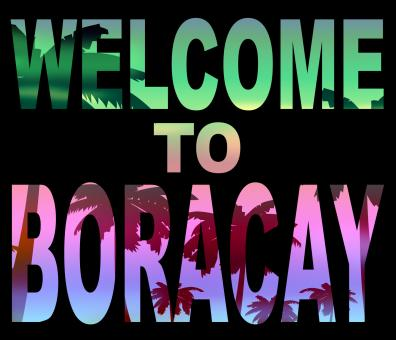 Free Stock Photo of Welcome To Boracay Means Beach Vacations And Hello