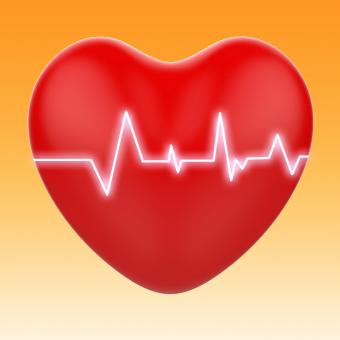 Free Stock Photo of Electro On Heart Means Cardiology Or Heart Health
