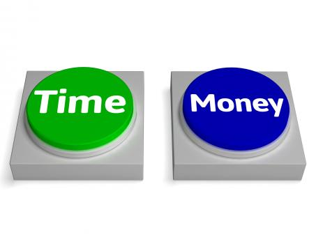 Free Stock Photo of Time Money Buttons Shows Finances Or Leisure