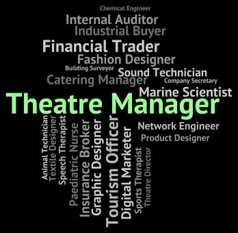 Free Stock Photo of Theatre Manager Shows Proprietor Position And Managing