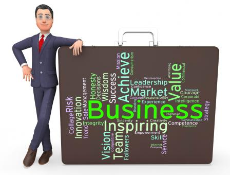 Free Stock Photo of Business Words Represents E-Commerce Wordcloud And Businesses