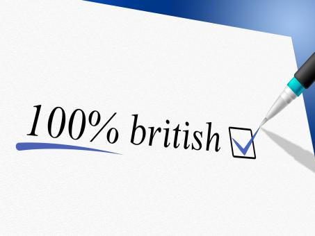 Free Stock Photo of Hundred Percent British Indicates United Kingdom And Britain