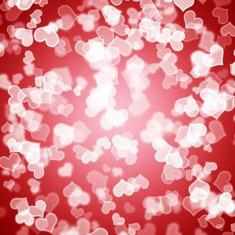 Free Stock Photo of Red Hearts Bokeh Background Showing Love Romance And Valentines