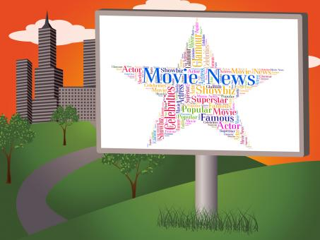 Free Stock Photo of Movie News Represents Hollywood Movies And Cinemas