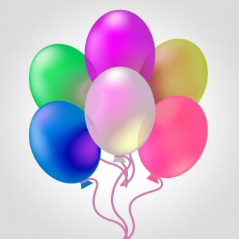 Free Stock Photo of Celebrate With Balloons Indicates Joy Cheerful And Celebrates