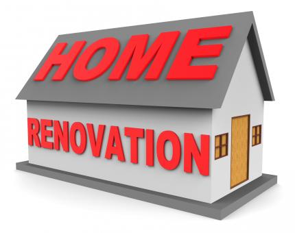 Free Stock Photo of Home Renovation Shows Real Estate And House 3d Rendering