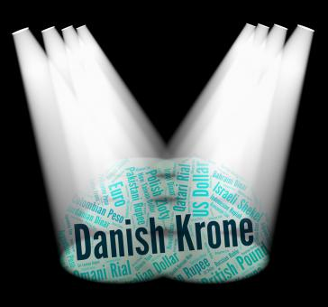 Free Stock Photo of Danish Krone Represents Foreign Currency And Banknote