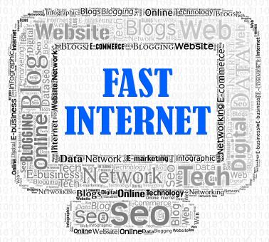 Free Stock Photo of Fast Internet Indicates High Speed And Computers
