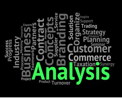 Free Stock Photo of Analysis Word Means Investigates Analyse And Wordcloud