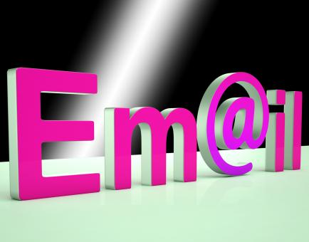 Free Stock Photo of E-mail Letters Shows Online Mailing And Messaging