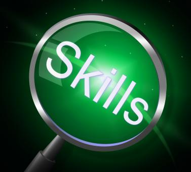 Free Stock Photo of Skills Magnifier Represents Expertise Ability And Skilful