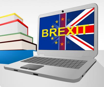 Free Stock Photo of Brexit Laptop Shows Britain Remain Europe And Decision