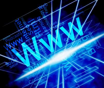 Free Stock Photo of Www Word Means World Wide Web And Internet