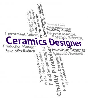 Free Stock Photo of Ceramics Designer Shows Designing Recruitment And Porcelain