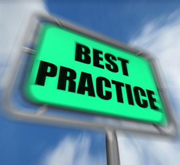 Free Stock Photo of Best Practice Sign Displays Better and Efficient Procedures