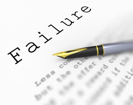 Free Stock Photo of Failure Word Shows Unsuccessful Deficient Or Underachieving