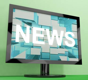 Free Stock Photo of News Word On Monitor Showing Media And Information