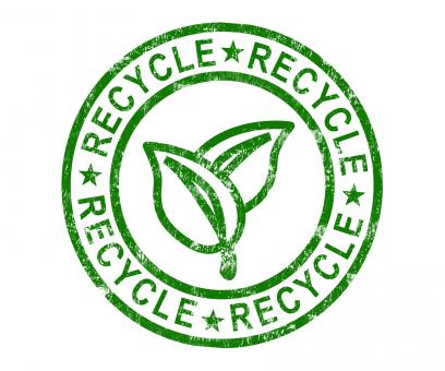 Free Stock Photo of Recycle Stamp Shows Renewable And Eco friendly