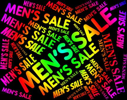 Free Stock Photo of Mens Sale Means Person Offers And Offer
