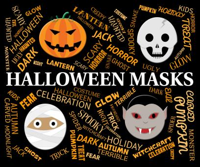 Free Stock Photo of Halloween Masks Indicates Trick Or Treat And Celebration