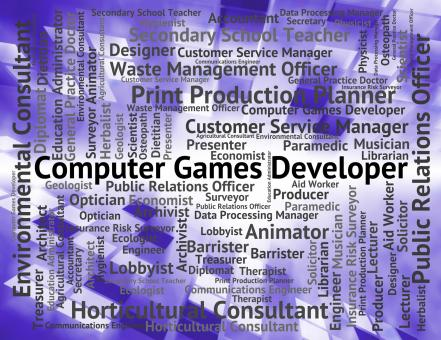 Free Stock Photo of Computer Games Developer Shows Play Time And Communication